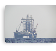 Oil Rig At Sea Canvas Print