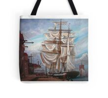 Drying Sails in Dock  Tote Bag