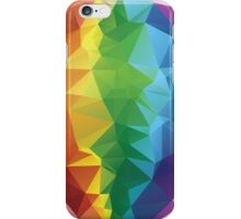 Rainbow Colors Polygonal Background iPhone Case/Skin