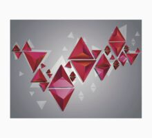 Red 3d Triangles 2 Kids Clothes