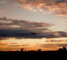 plane coming in for landing... by Wendy L Vandeven