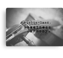 Violin Sherlock Holmes Canvas Print