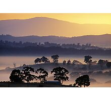 Sunrise, Kangaroo Ground, Yarra Valley. Photographic Print