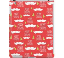 Merry Christmas Mustache Pattern iPad Case/Skin
