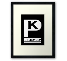 Rho Kappa Shirt Logo 1 Framed Print