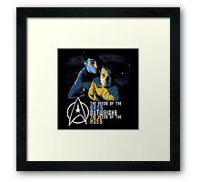 Kirk and Spock Framed Print