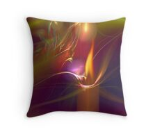 Candle in the Wind Throw Pillow