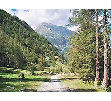 Una passeggiata sul Monte Rosa Macugnaga ItalIA -2000 VISUALIZ. GENNAIO 2015 - VETRINA RB EXPLORE 9 OTTOBRE 2012 Photographic Print