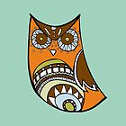 Deco Owl - brown tones by Hyululu