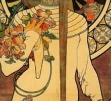 'La Trappistine' by Alphonse Mucha (Reproduction) Sticker