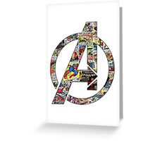Avengers symbol! Greeting Card