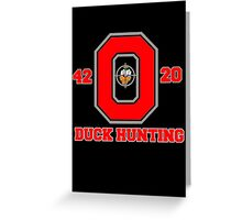 Ohio State Duck Hunting Greeting Card