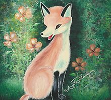 The Pretty Red Fox (Card) by AngelArtiste