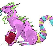 Dragon the Monster Cat by Uluri