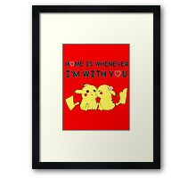 Best Valentine's Day T-Shirt With Pikachu ! Framed Print
