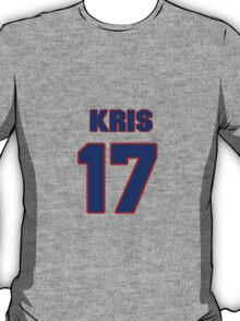 National football player Kris Durham jersey 17 T-Shirt