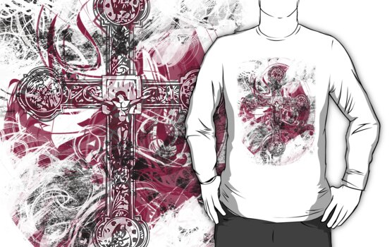 Blood on the Cross (T-Shirt) by HappyCatholics