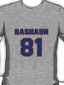 National football player Rashaun Woods jersey 81 T-Shirt
