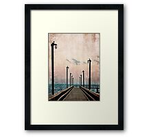 Community Pier Framed Print