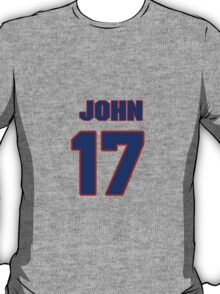 National football player John Friesz jersey 17 T-Shirt