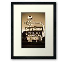 Rest Haven Court Motel. (Alan Copson © 2007) Framed Print