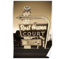 Rest Haven Court Motel. (Alan Copson © 2007) Poster