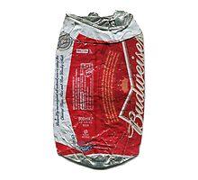 Budweiser - crushed tin by Jovan Djordjevic