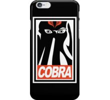 Obey Cobra! iPhone Case/Skin
