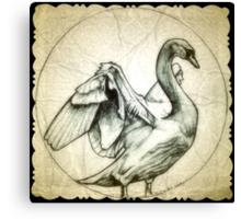swan drawing Canvas Print