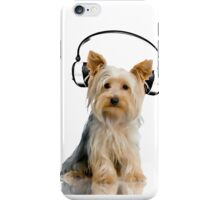 Headphone Yorkie iPhone Case/Skin