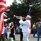 Sailor Playing &quot;Taps&quot; for Memorial Day Ceremony by SteveOhlsen