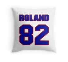 National football player Roland Dale jersey 82 Throw Pillow