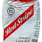 Red Stripe - Crushed Tin by Jovan Djordjevic
