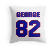 National football player George Hays jersey 82 Throw Pillow