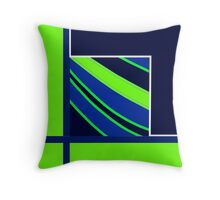 SEA HAWKS colors, gifts, decor, 2015 DESIGNS, lime green, royal blue Throw Pillow