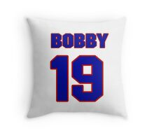 National football player Bobby Riley jersey 19 Throw Pillow