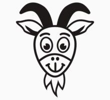 Comic goat head Kids Clothes