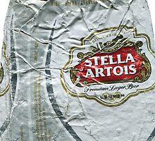 Stella Artois - Crushed Tin by Jovan Djordjevic
