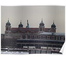 Ellis Island, Statue of Liberty, View from Liberty State Park, New Jersey Poster