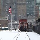 Classic Train, Snow View, Liberty State Park, New Jersey by lenspiro