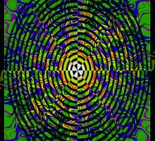 Pipe Dream #3 by CAP - Colorful Moving Optical Illusion Psychedelic Design by capartwork