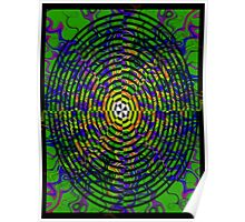 Pipe Dream #3 by CAP - Colorful Moving Optical Illusion Psychedelic Design Poster