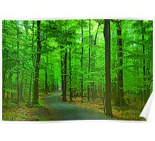 Green Trees - Impressions of Summer Forests Poster