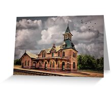 Train Station At Point Of Rocks Greeting Card