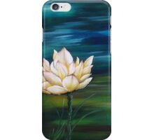 Water lily with green and blue iPhone Case/Skin