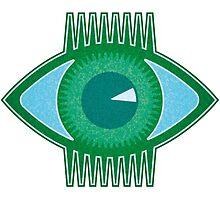 Big Green Eye by Rif Khasanov