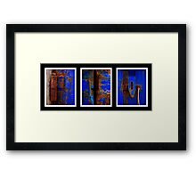 Moroccan Rust Triptych Framed Print