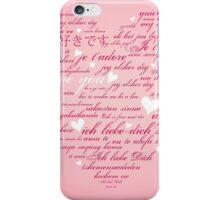 Words of Love Pink Designer Art iPhone Case/Skin