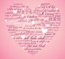 Words of Love Pink Designer Art by innocentorigina