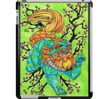 cherry blossom fu dog iPad Case/Skin